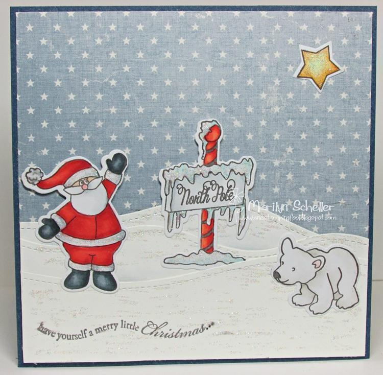 Frantic Stamper Precision Die - At The North Pole