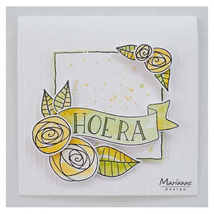 Marianne Design Clear Stamps Marjoleine's Roses