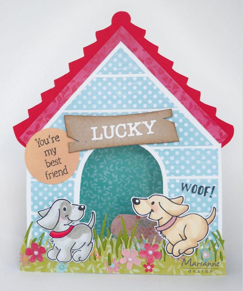 Marianne Design Craft Stencil: Doghouse By Marleen
