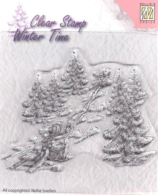 Clear Stamp - Winter Time - Sled Fun