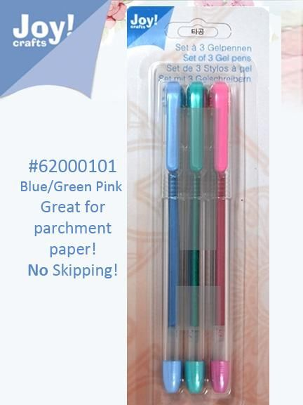 Colored Gel Pen - Pink, Green And Blue