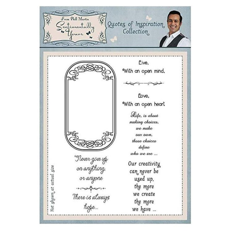 Sentimentally Yours Clear Stamp - Quotes Of Inspiration