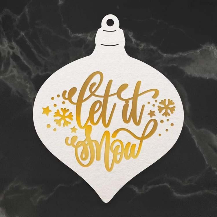 Couture Creations Let It Snow Bauble Cut, Foil And Emboss Die