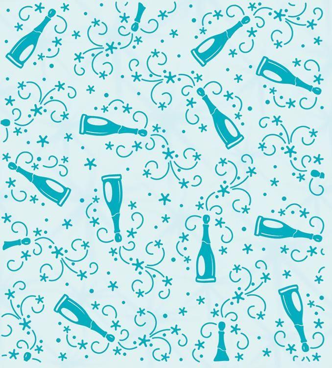 Embossing Folder Background Champagne Bottles