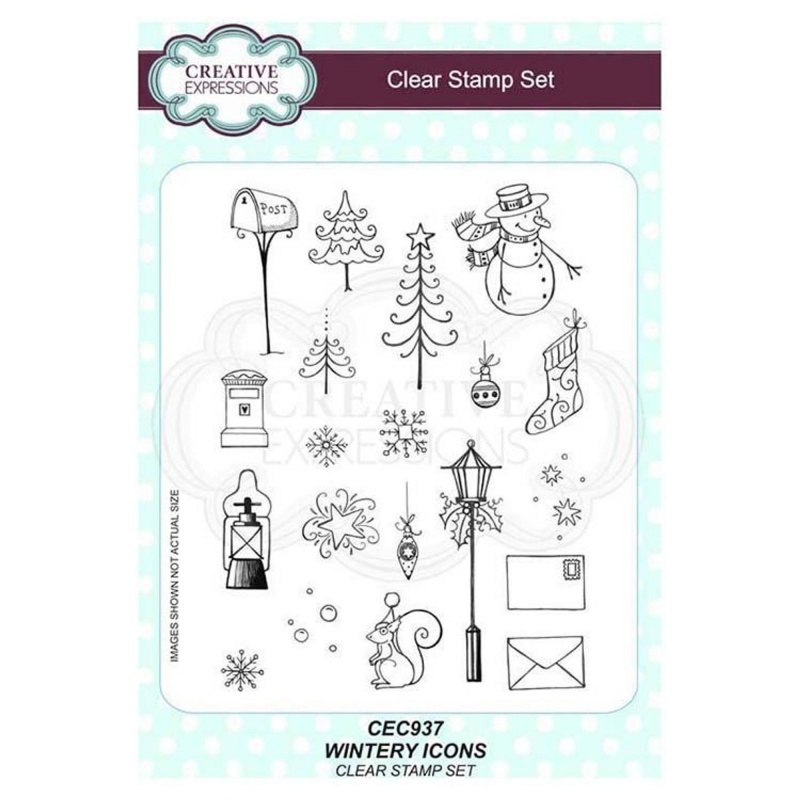 Creative Expressions Wintery Icons A5 Clear Stamp Set
