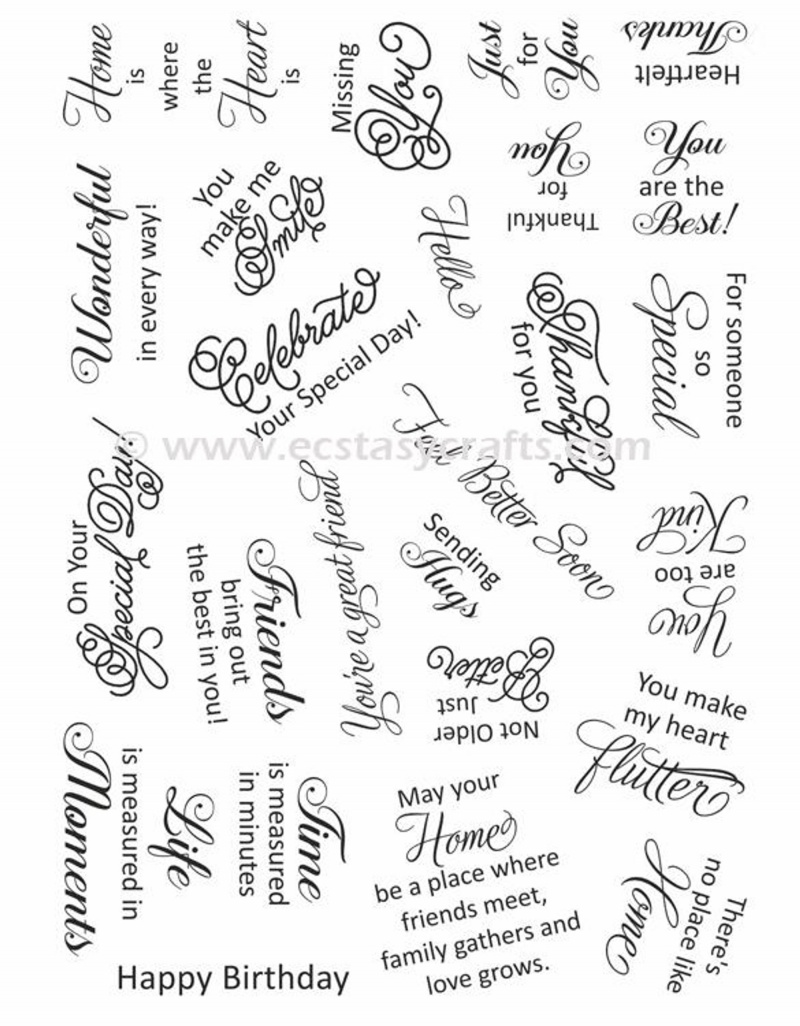 Creative Expressions - Clear Stamp Set - Sweet Wishes