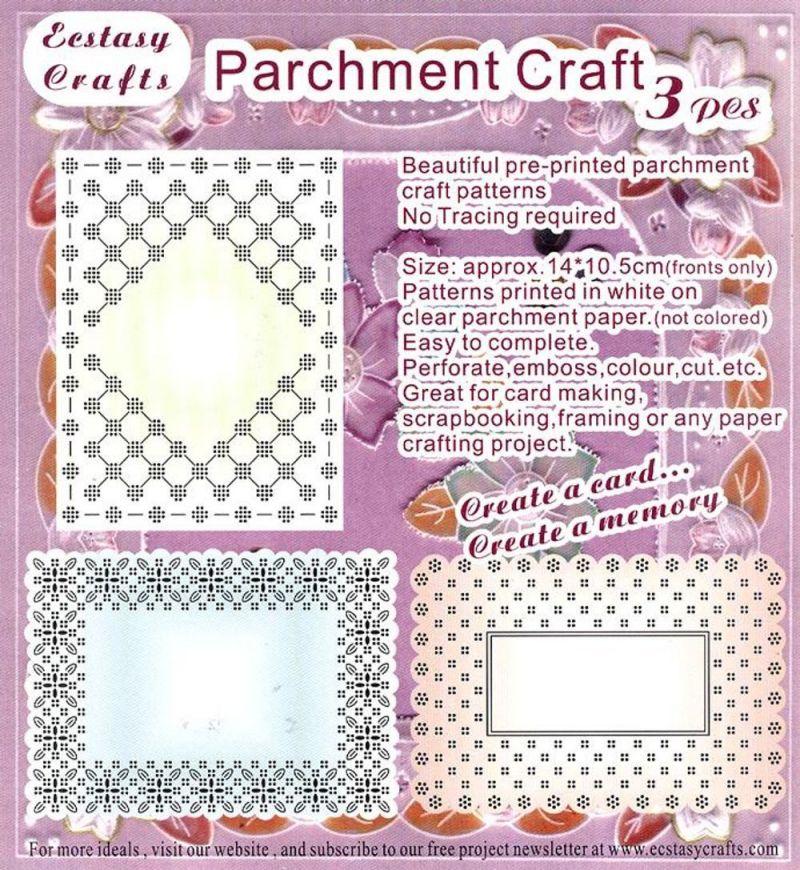 3 Parchment Patterns -rectangle Frames