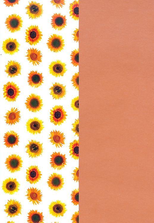 Vellum Paper Sunflower / Umber-12X12