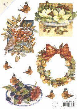 Mattie Print - Birds & Wreath