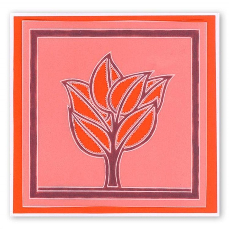 Groovi Abstract Trees (tree Leaves) Plate A6 Sq