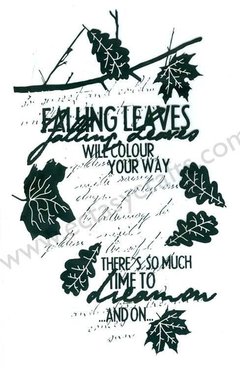 Clear Stamp - Autumn Leave