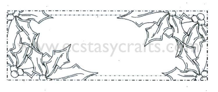 Ce Foam Stamps - Holly Corner