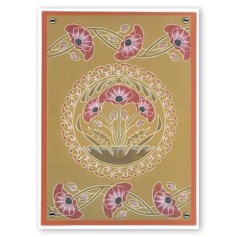 Groovi Poppies Art Nouveau A5 Sq