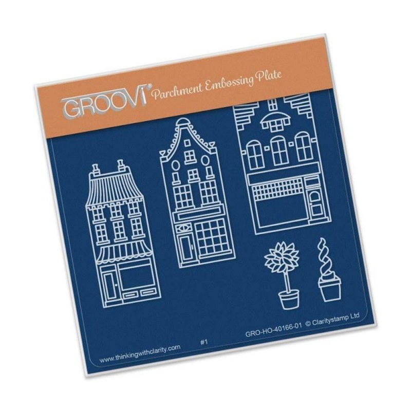 Groovi Wee Shops Plate A6 Sq