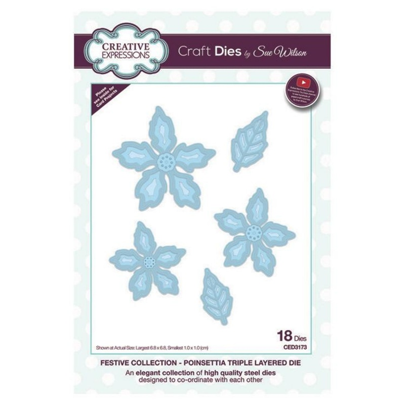 Festive Collection Poinsettia Triple Layered Die