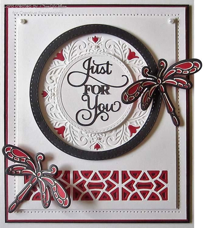 Creative Expressions Dies By Sue Wilson Triple Layer Collection Dragonfly