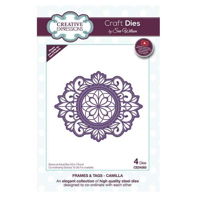 Dies By Sue Wilson Frames And Tags Collection Camilla