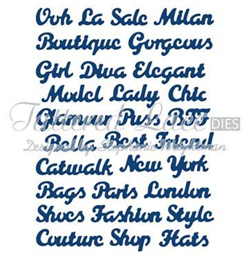 Tattered Lace Die - Fashion Sentiments