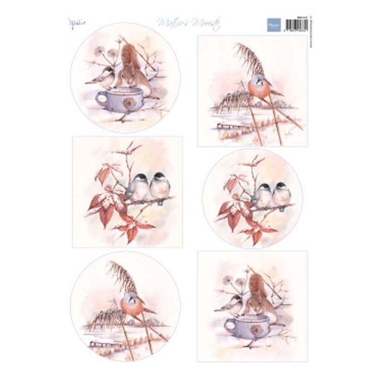 Marianne Design Cutting Sheet Mattie's Mooiste Winter Birds
