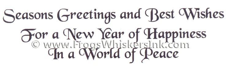Frog's Whiskers Ink Stamps - New Year Of Happine