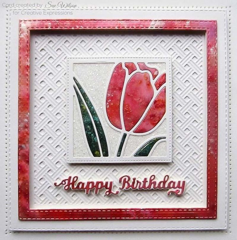 Creative Expressions Dies By Sue Wilson Mini Shadowed Sentiments Happy Birthday