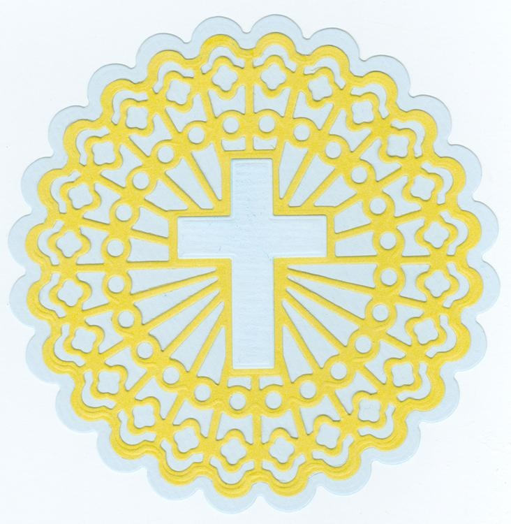 """Stained Glass Dies """"round With Shining Cross"""""""