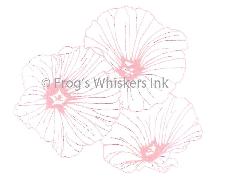 Frog's Whiskers Stamps - Lavatera