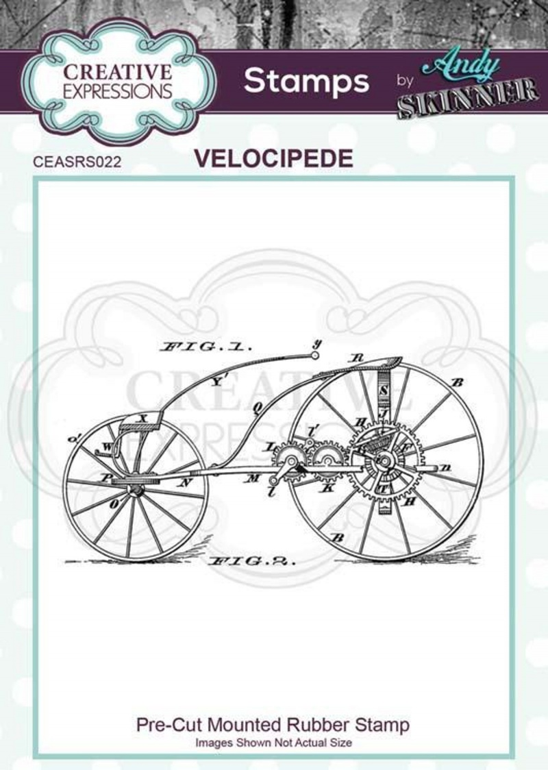Pre Cut Rubber Stamp By Andy Skinner Velocipede