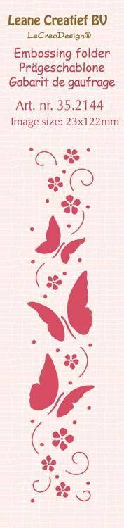 Border Embossing Folder Butterflies