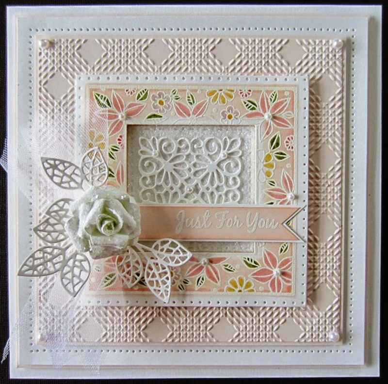 Foam Mounted Cling Stamps - Floral Doodle Square