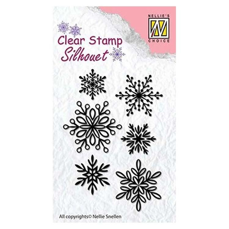 Nellie's Choice - Clear Stamp Snowflakes