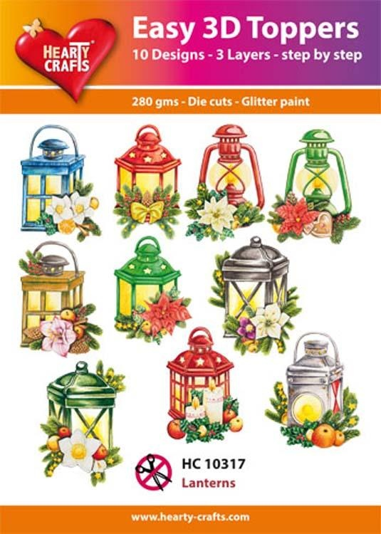 Hearty Crafts Easy 3D Toppers Lantern