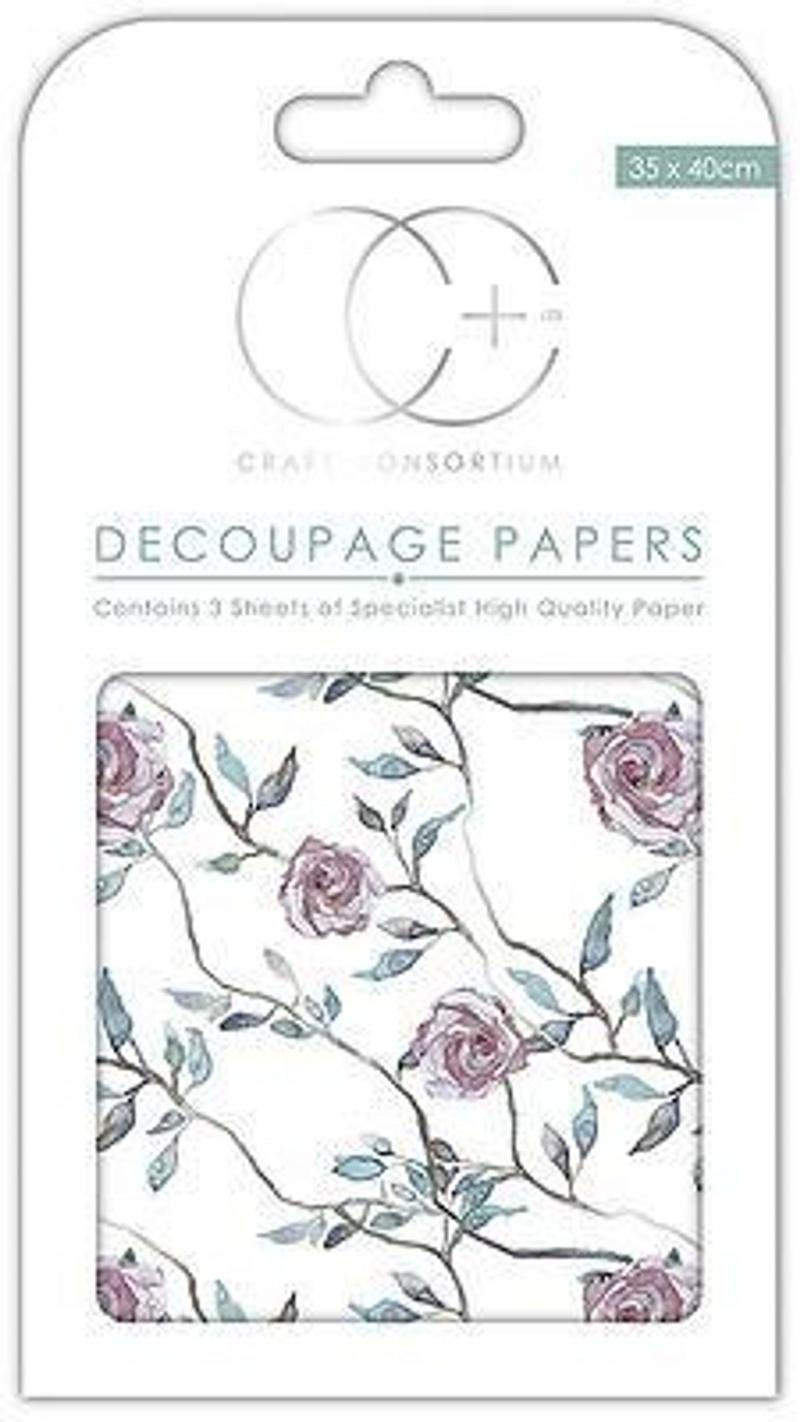Climbing Rose Decoupage Paper