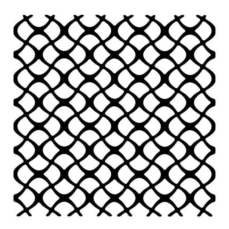 """Woodware 6"""" X 6"""" Stencil Scaly Mesh"""