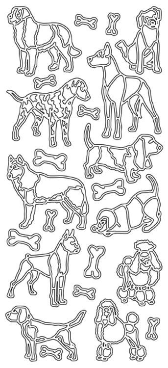 Peel-off Stickers - Various Dogs