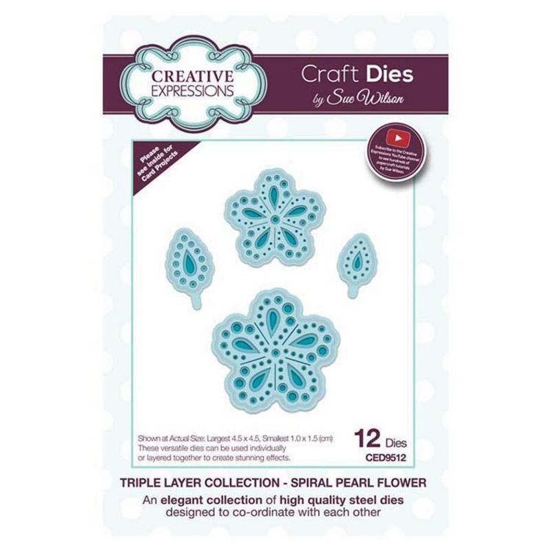 Dies By Sue Wilson Triple Layer Collection Spiral Pearl Flower