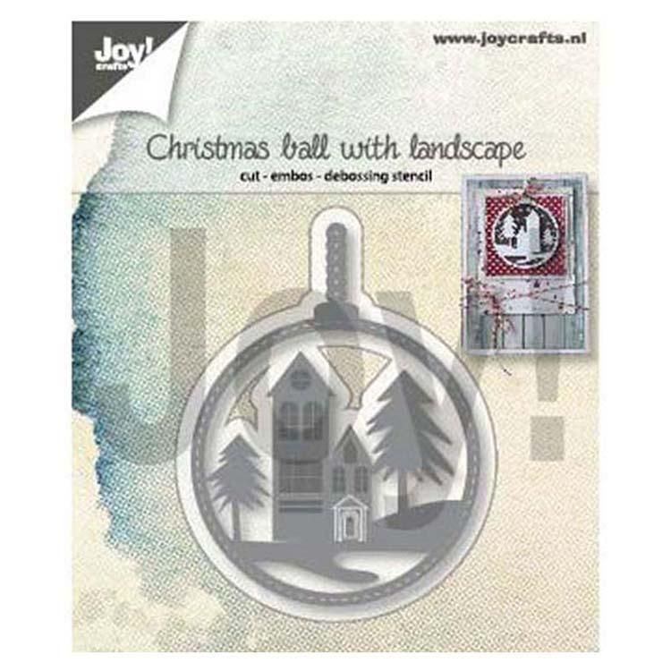 Joy! Crafts Die - Christmas Ball With Landscape