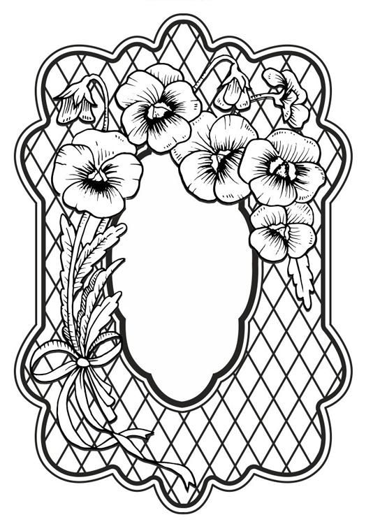 Sue Wilson Cling Stamps - Tropical Pansies