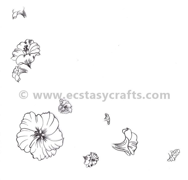 Nellie's Choice - Clear Stamp Layered - Flower Corner 1