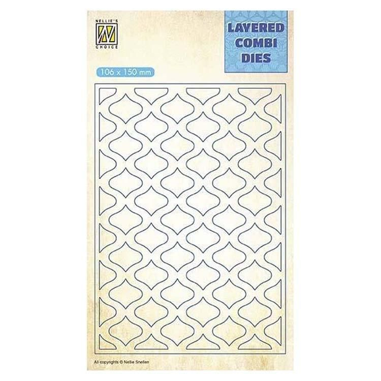 Nellie's Choice Layered Combi Dies Eastern Oval Layer A