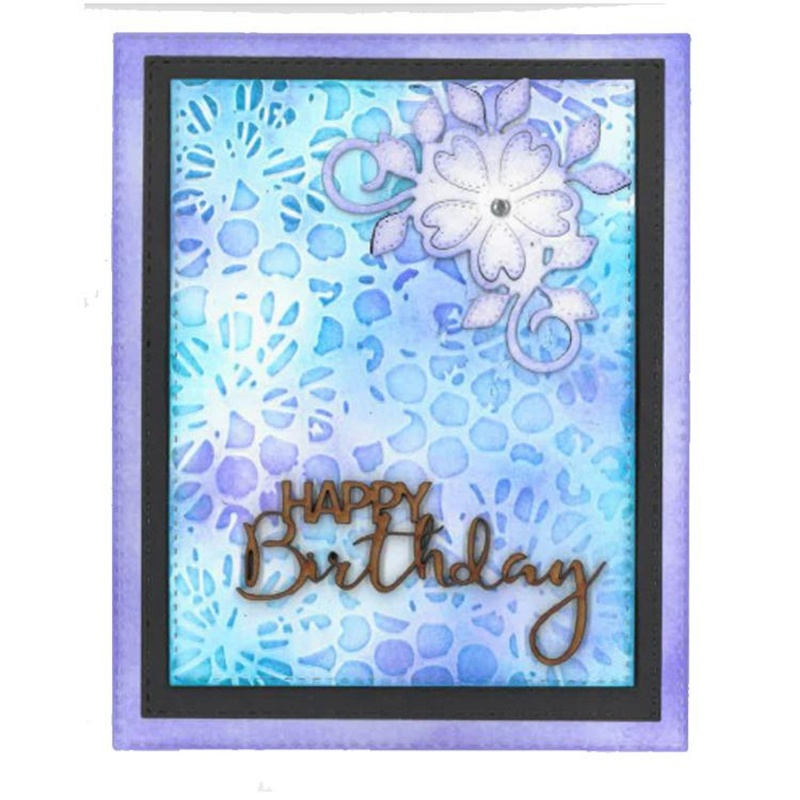 Creative Expressions 5 X 7 Embossing Folder Bubble Butterfly