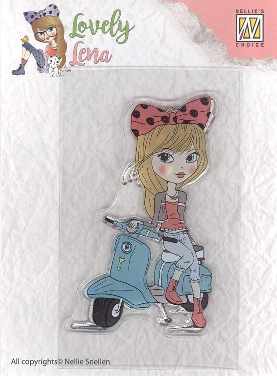 Clear Stamp Lovely Lena - Lena On A Scooter