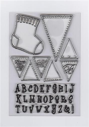 Clear Stamp - Baby Sock & Alphabet