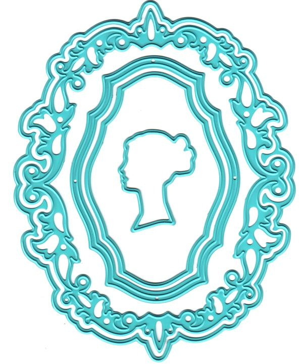 Vintasia Dies - Oval Frame With A Lady