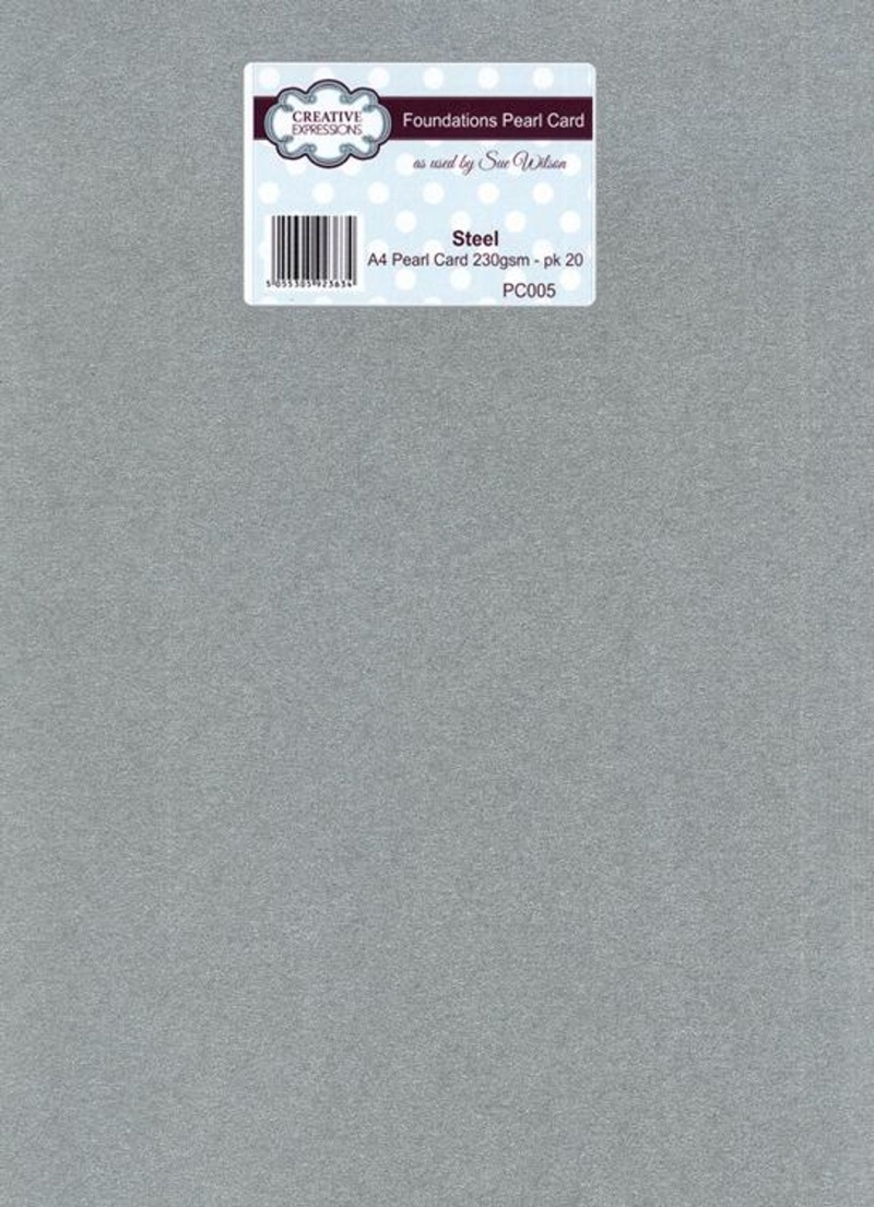Foundation A4 Pearl Cardstock 230Gsm Pk 20 - Steel