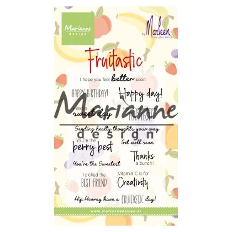 Marianne Design Clear Stamps Marleen's Fruitastic