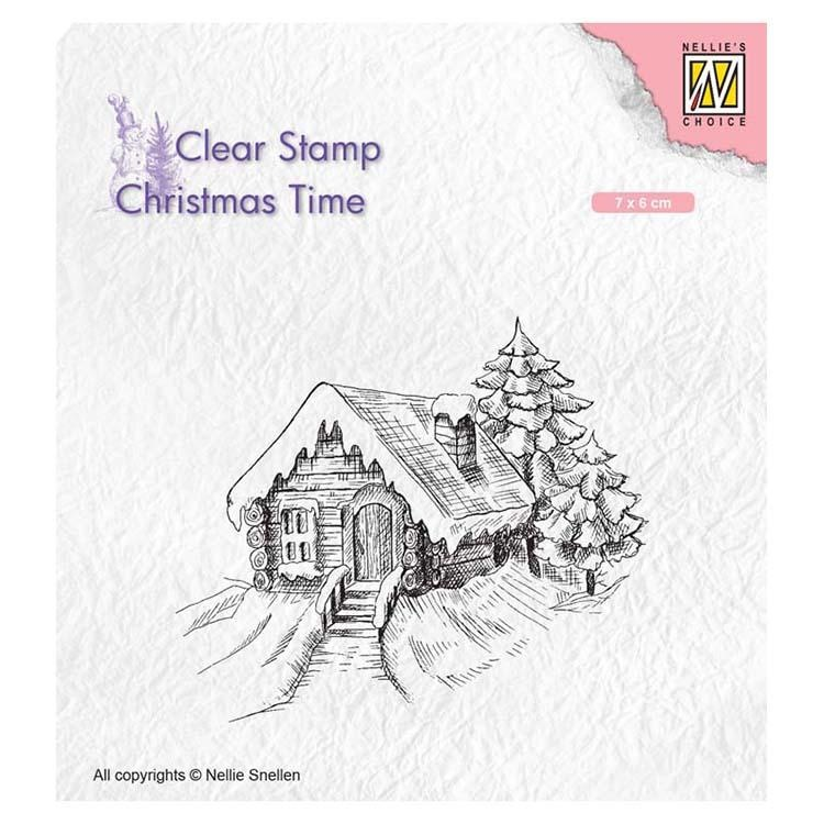 Nellie's Choice Clear Stamp Cosily Snowy Cottage