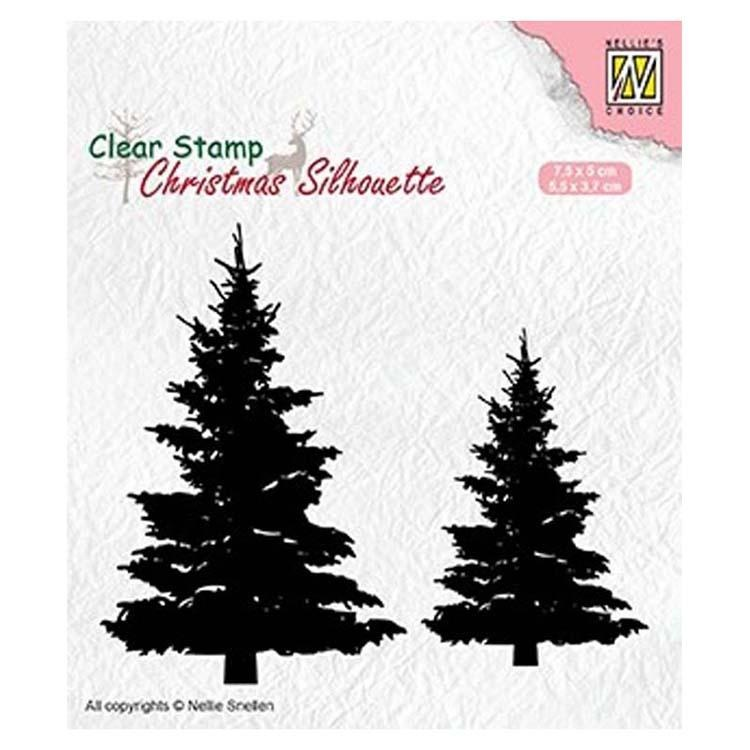 Nellie's Choice Clear Stamp Christmas Silhouette Fir Trees