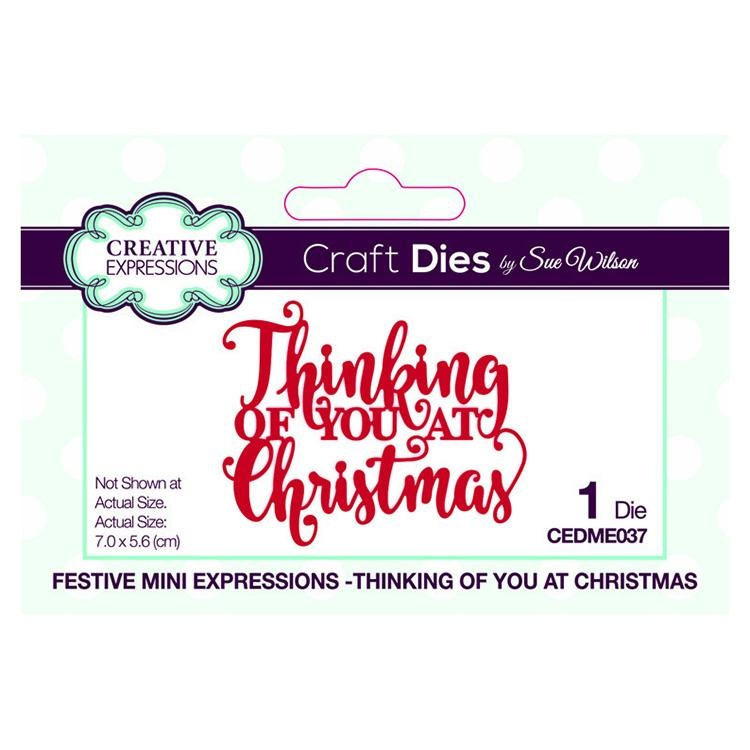 Festive Mini Expressions Thinking Of You At Christmas Craft Die