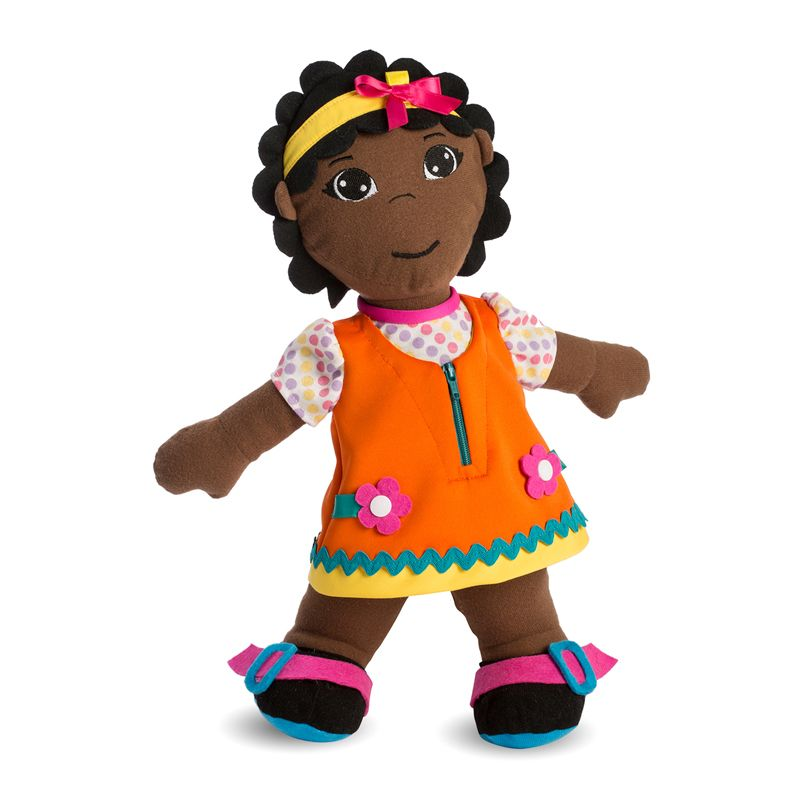 Fastening Dolls African Girl Multicultural